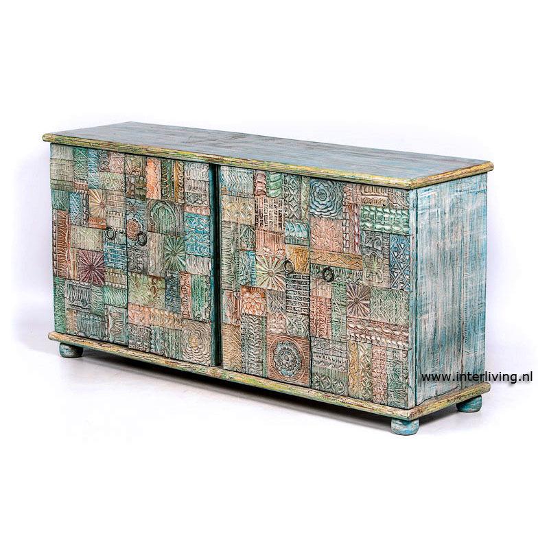 dressoir hout blauw ibiza stijl dressoir hout blauw ibiza stijl sfeervol dressoir voor een ibiza stijl interieur koop in onze webshop