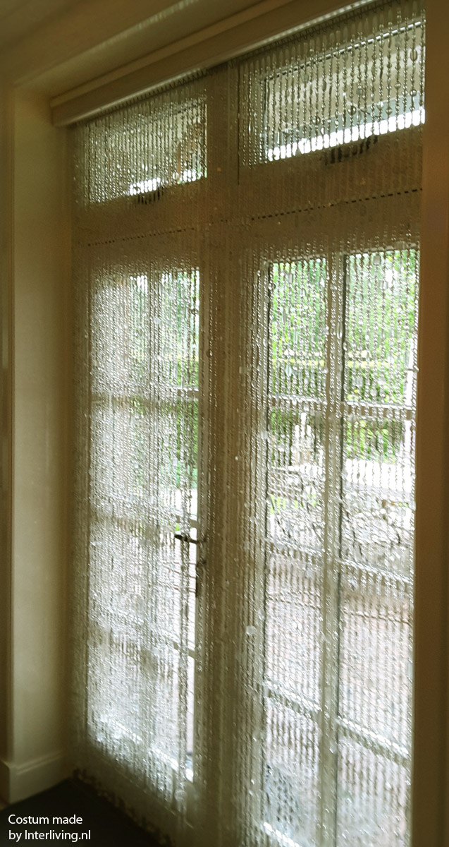 Glaskralengordijn op maat, ook mooi voor de schuifpui - raamdecoratie