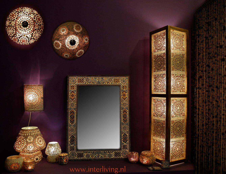 Paarse Slaapkamer Lamp : Mozaiek lampen sfeerverlichting collectie mixen en matchen