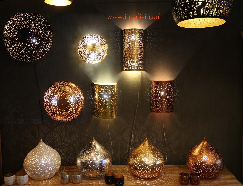 Lampen Oosterse Stijl : Oosterse plafondverlichting filigrain lampen koper goud zilver zwart