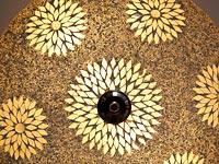 Transparante mozaiek plafondlamp
