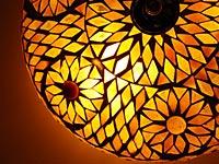 Warme plafondlamp