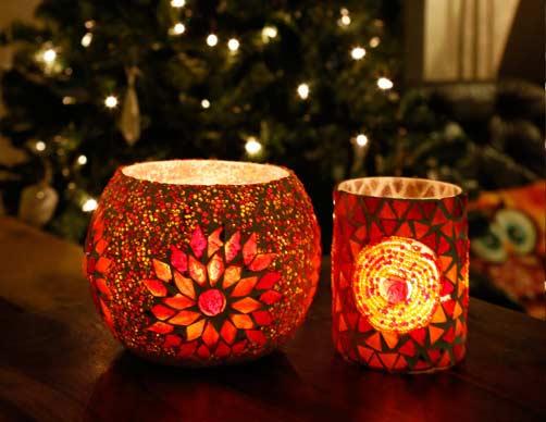 kerst kleuren oosters interieur