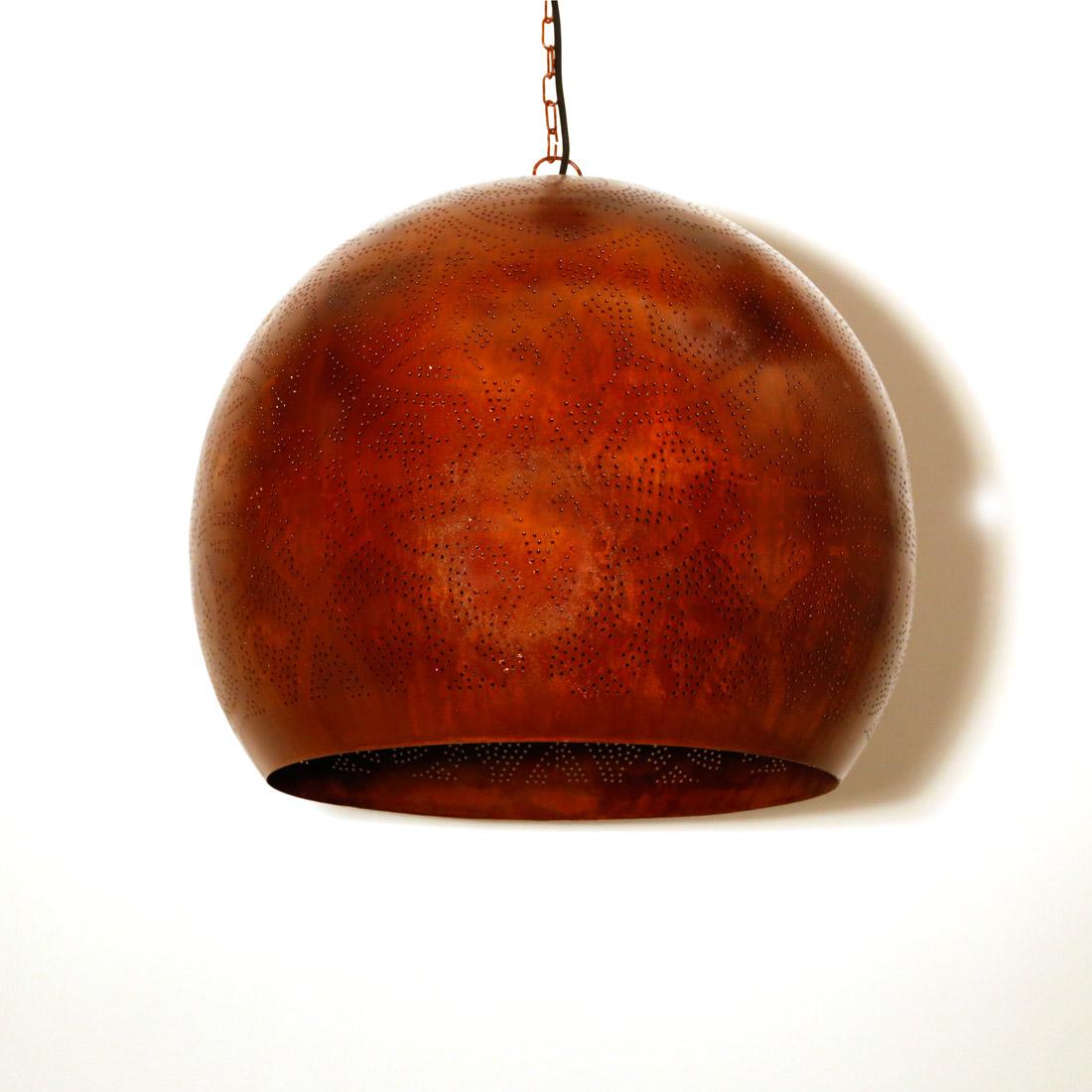 Hanglamp rusty, oosterse bol xxl van antiek vintage zuiver roest look