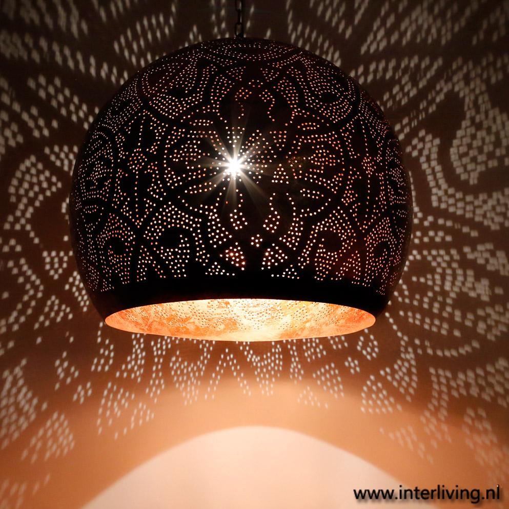 verweerde industriële hanglamp bol xxl oosterse stijl met gaatjes, Meubels Ideeën