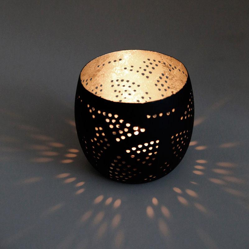 Filigrain lampen open hanglampen matzwart   goud en zilver binnenkant
