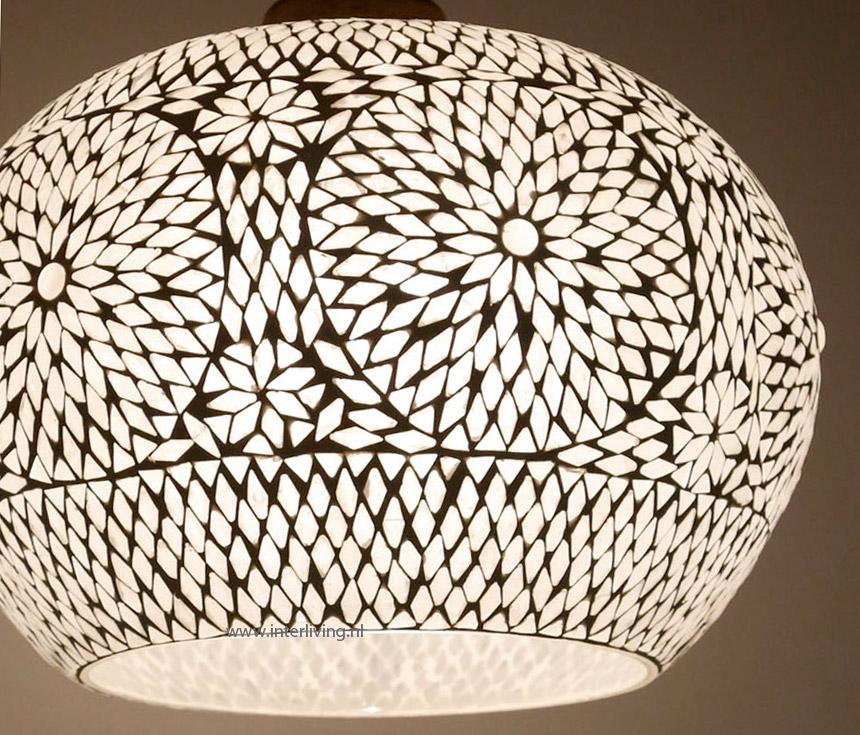 grote hanglamp   model appel van glasmoza u00efek met duurzaam hout retro