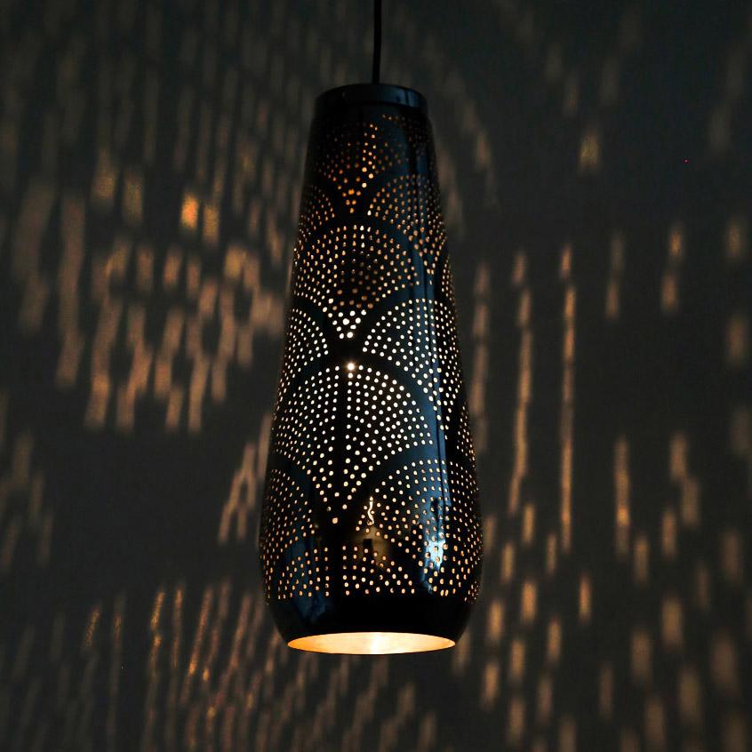 Arabische gaatjeslamp, Magische verlichting, Filigrain, open hanglamp