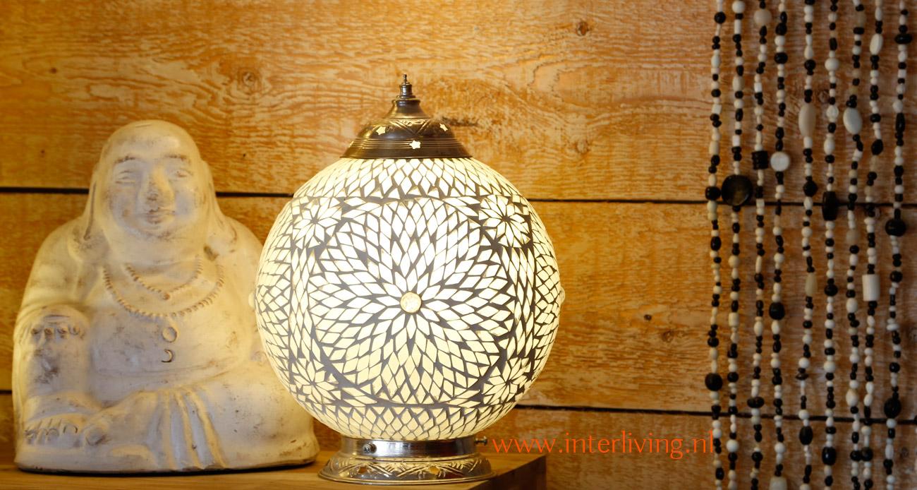 Mozaiek lampen sfeerverlichting collectie mixen en matchen - Grote tafellamp ...