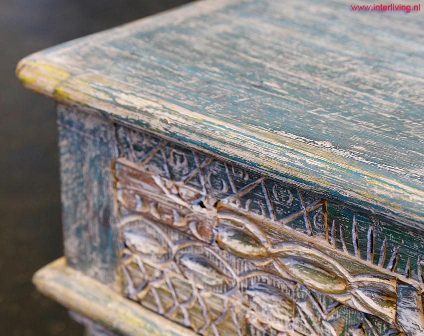 Slaapkamer Vintage Blue : Oosterse vintage meubelen uit india duurzaam hout oosters design