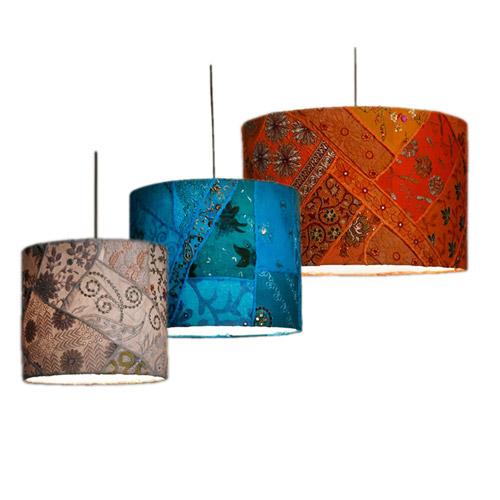 Lampenkap Patchwork : Hanglamp Of Staande Lamp Op Lampvoet