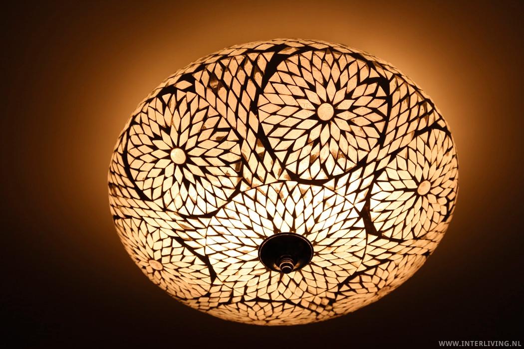 plafonnière 38cm cm mozaïek transparant turkish design