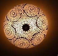 transparante plafonnière mozaïek turkish design