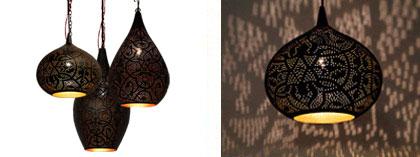 filigrain oosterse lampen zwart goud