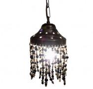Glaskralen hanglamp op=op
