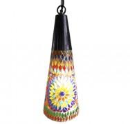 Multi colour hanglamp cone vormig