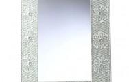 Mooie mozaiekspiegel 65x50 cm - transparant