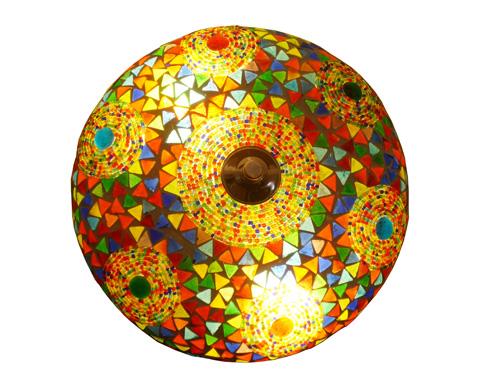 Mooie plafondlamp voor € 49: sfeerverlichting met mozaiek en ronde ...
