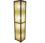 Mooie transparante vloerlamp met mozaiek inleg, 60 cm of 120 cm hoog