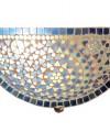Zomerspecial: Prachtige blauwe wandlamp glasmozaïek, halve maan vorm