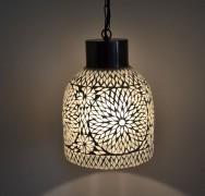 Open hanglamp - Industrieel - transparant glasmoziek