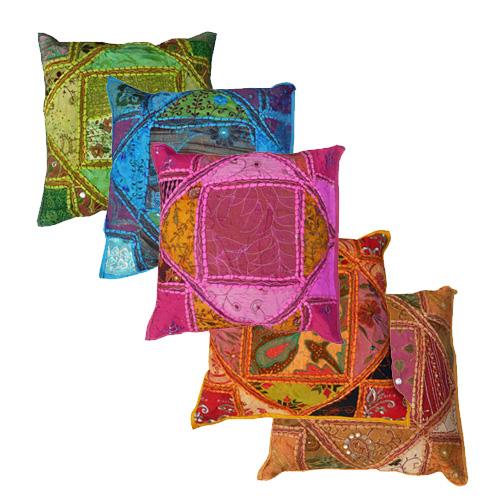 sierkussens van patchwork india koop ze zeer voordelig
