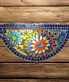 Wandlamp van glasmozaiek - multi colour