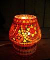 Herfst sfeerverlichting: Mooie tafellamp met Indiaas glasmozaiek