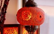 Herfstaanbieding. De sfeer van 1001 nacht vertaald in oranje rode tinten met een vleugje geel!