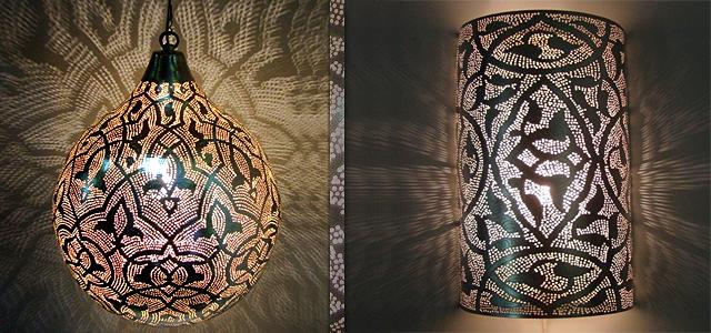 Filigrain lampen