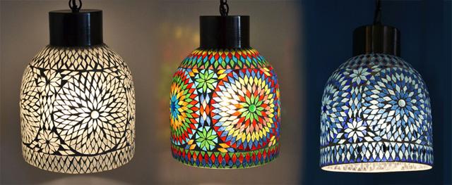 glasmozaiek en kleuren maatwerk in lampen en meubels apart model