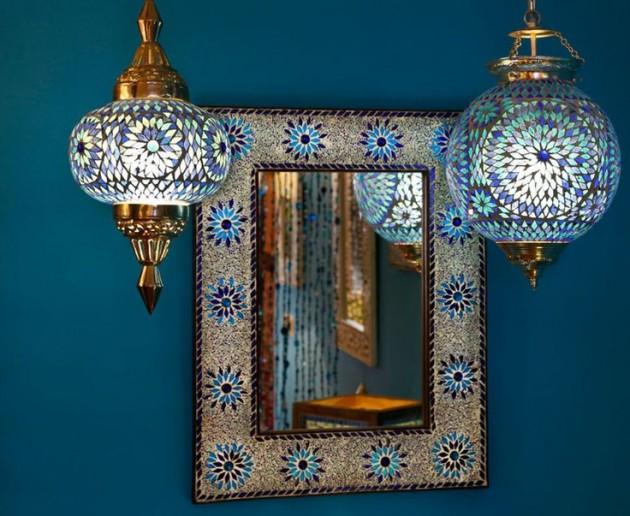 Blauwe Slaapkamer Lamp : Gekleurde lamp blauwe hanglamp pompoen nu in de shop
