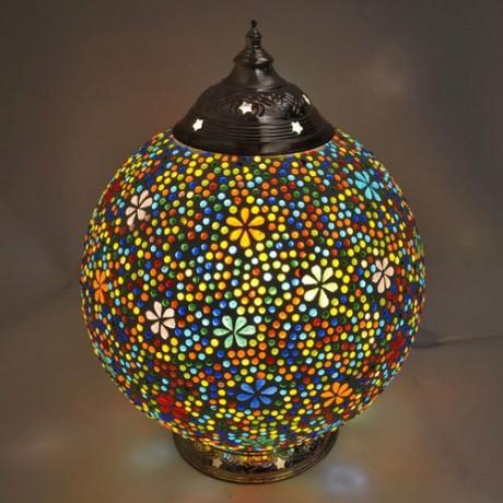 tafellamp bloemen glasmozaiek