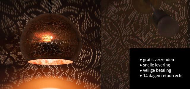 Oosterse lampen mozaiek, filigrain sfeerverlichting meubelen webshop