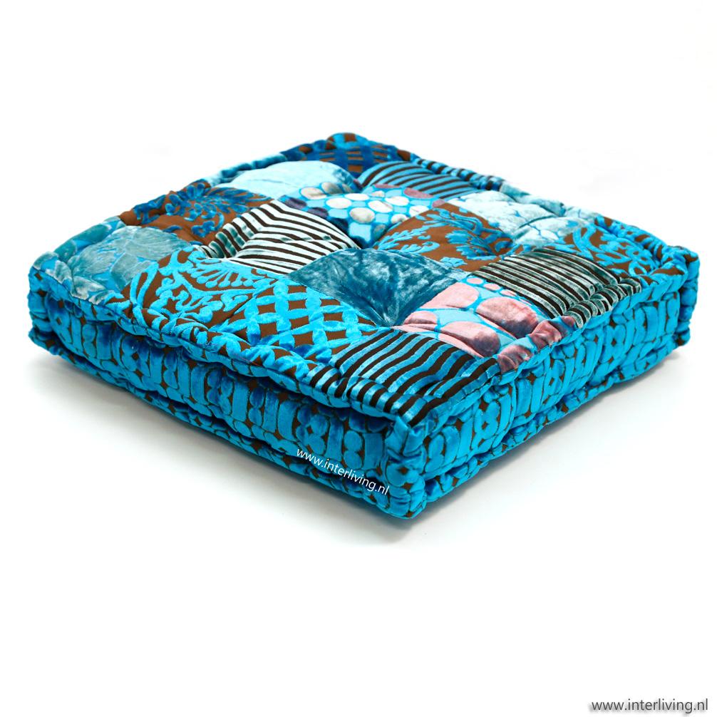 vloerkussen-blauwtinten-aqua