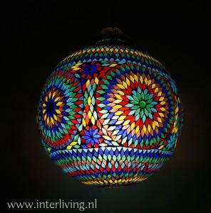 kleurrijk mozaiek lamp grote bol