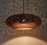 Prachtige vintage koperen hanglamp - model UFO