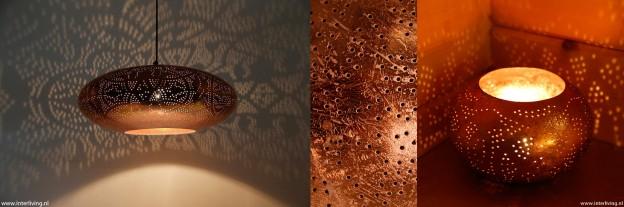 koper lamp oosters vintage