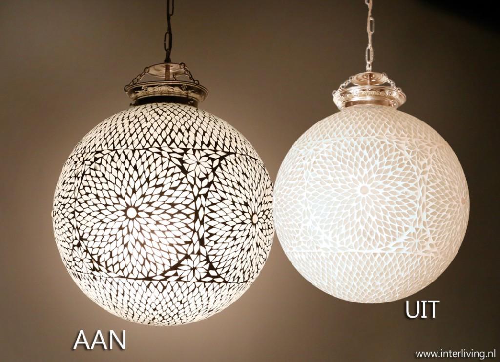 Hanglamp Slaapkamer Wit : oosterse grote bol hanglamp wit glas modern ...