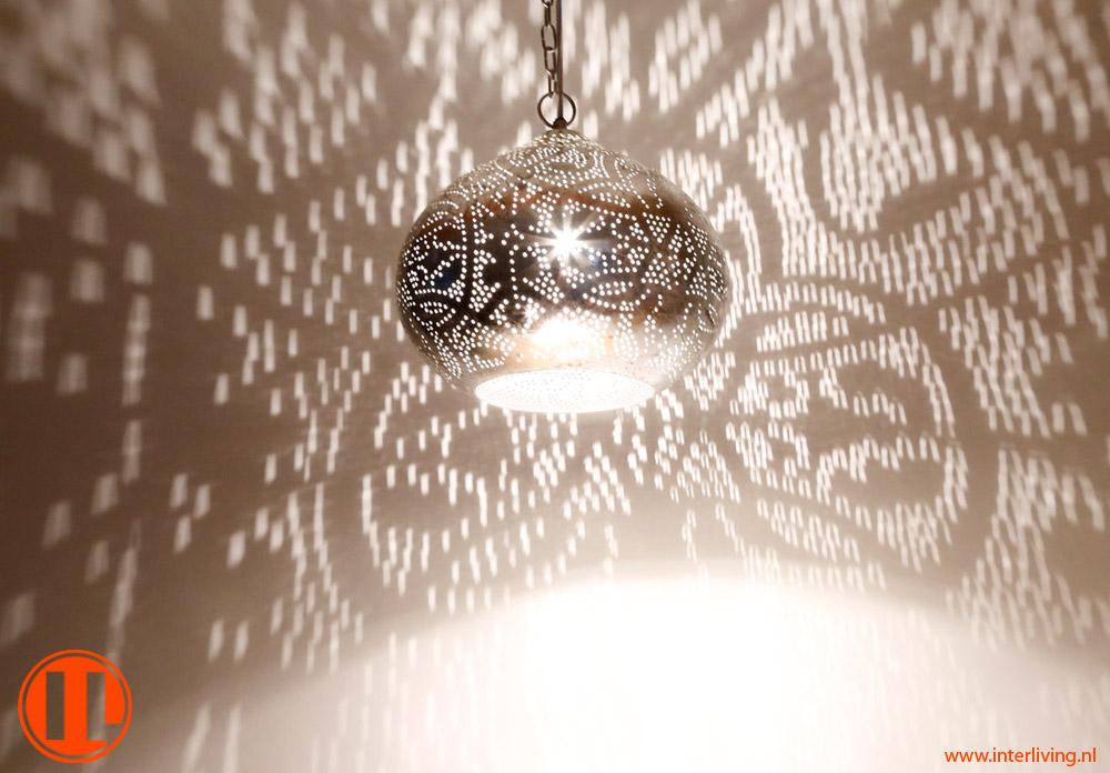 Kleuren Oosterse Slaapkamer : oosterse pompoen hanglamp met gaatjes in ...