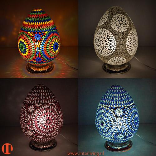 Oosterse Lamp Mozaiek In Een ei Of Egg Model Voor Op