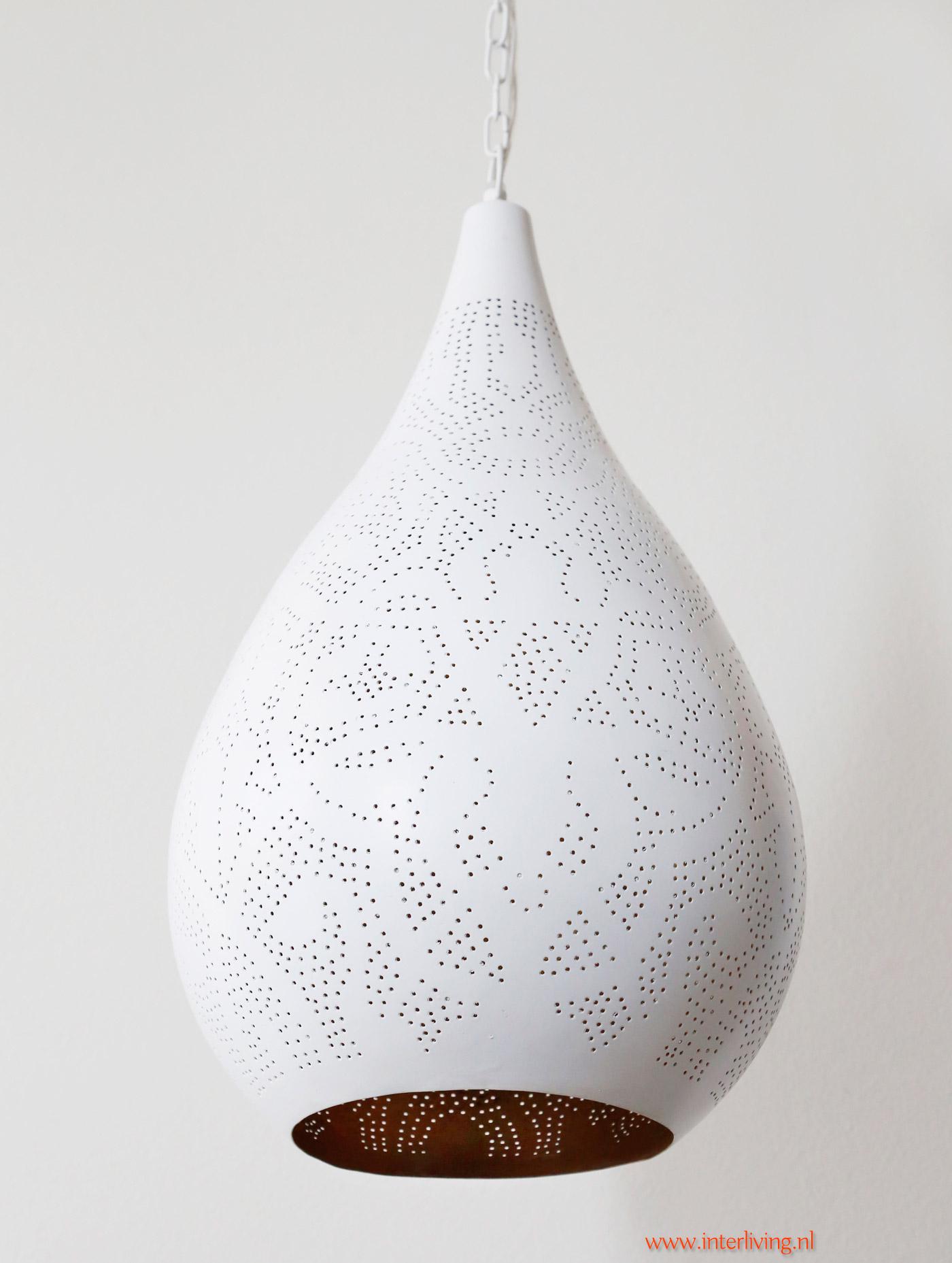 design hanglamp wit - ronde open onderkant