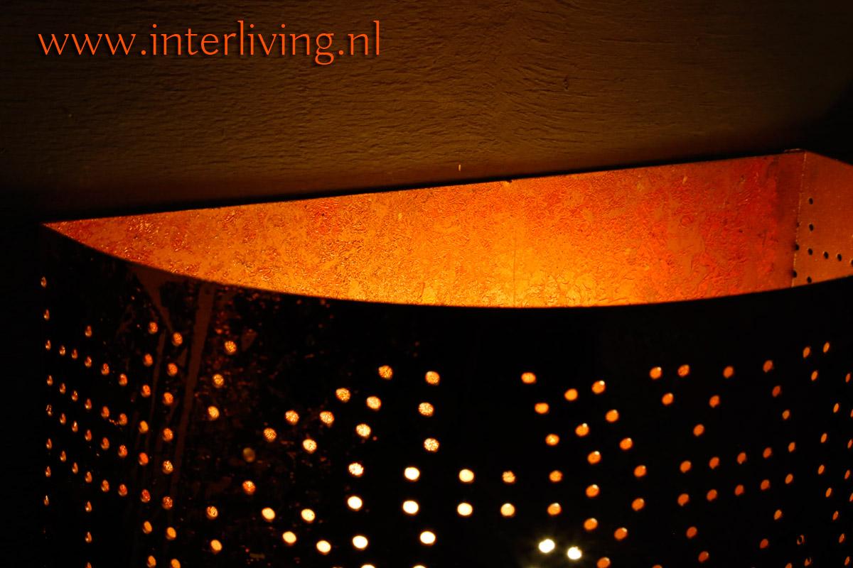 woonkamer of hal styling tips: oosterse vintage lamp voor aan de muur rechthoek
