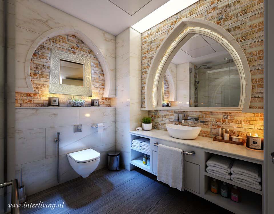 Stijlvolle Plafonniere Badkamer : Mozaiekspiegels oosters en werelds interieur badkamer of woonkamer
