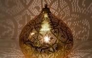 Filigrain tafellamp vintage goud