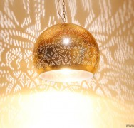 Bol hanglamp - vintage goud