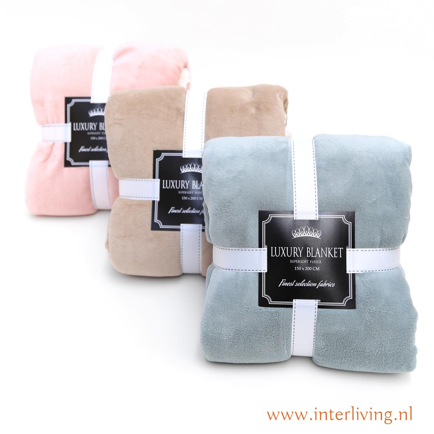 f3b1f053b4e Zachte en warme fleece plaid