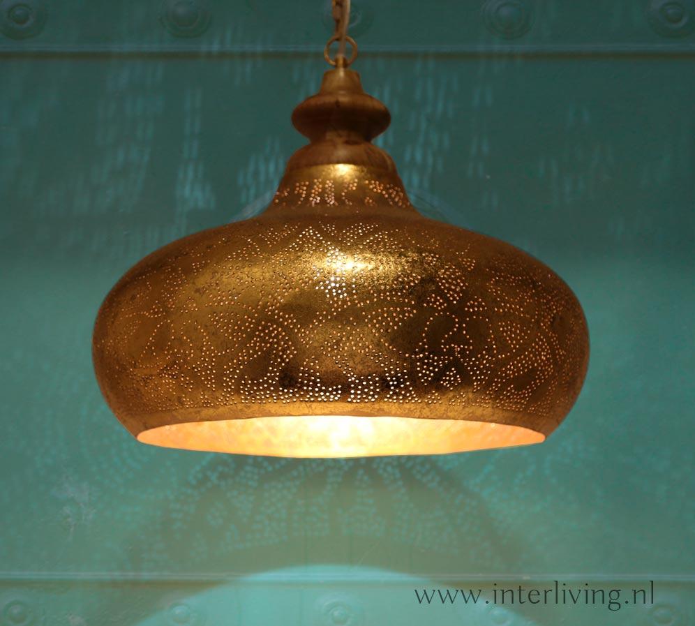gouden lamp - oosters