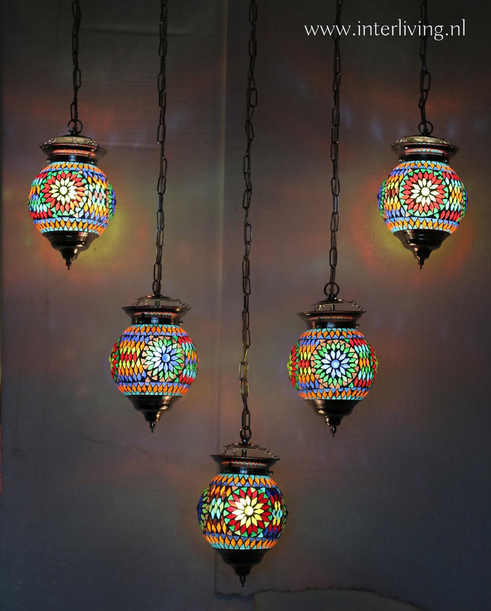 kroonluchter mozaiekbollen v vorm