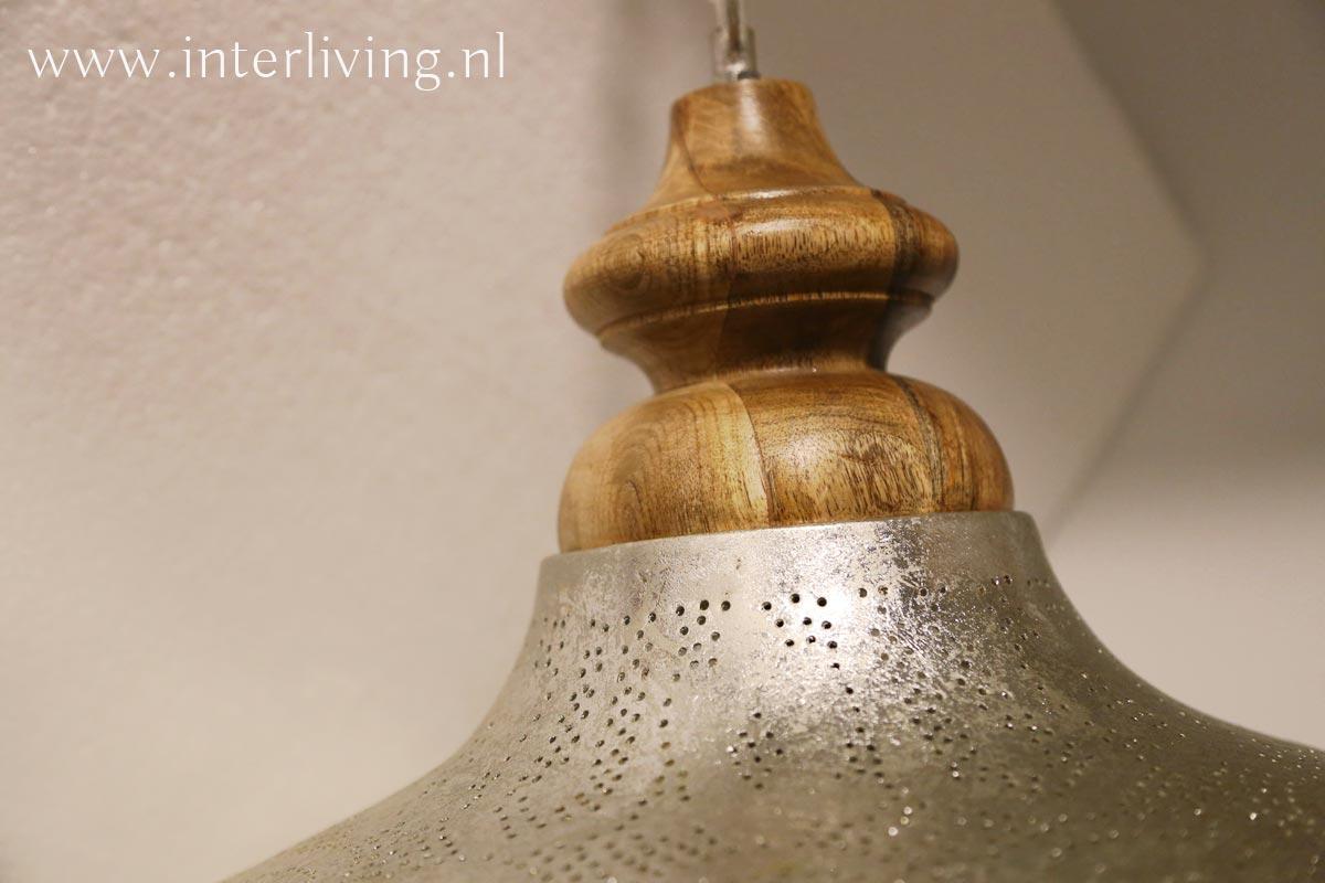 lamp houten bovenkant pepermolen